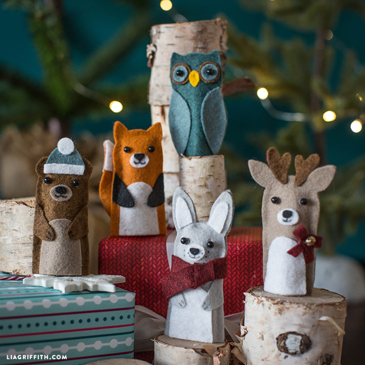 DIY Woodland Finger Puppets