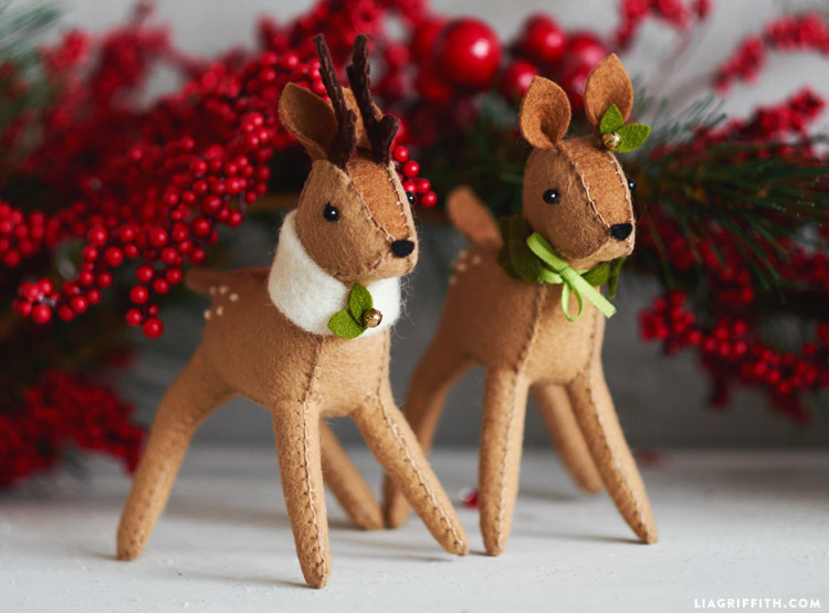 diy felt reindeer template sewing tutorial felt crafts