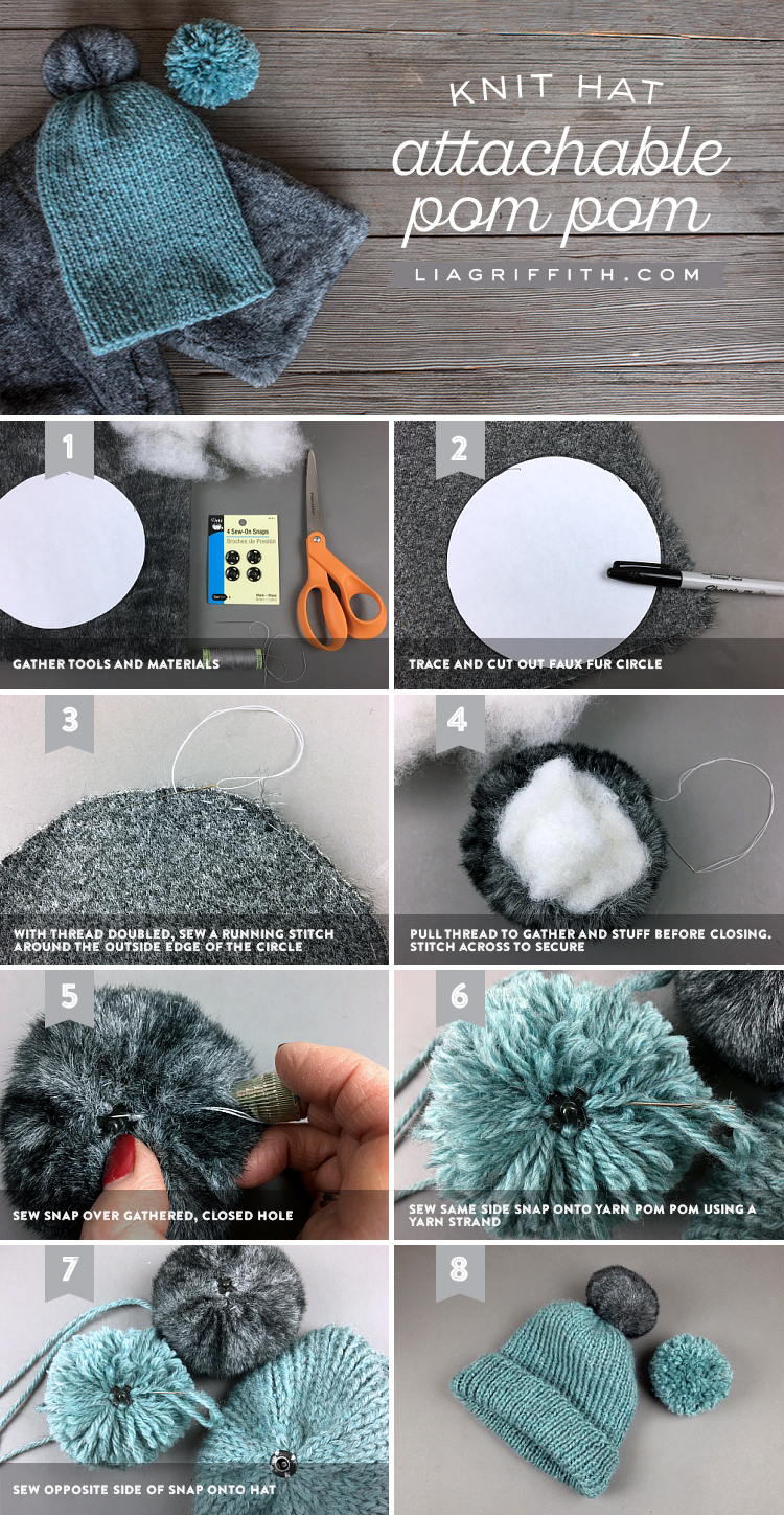 How to make a pompon of yarn for a hat