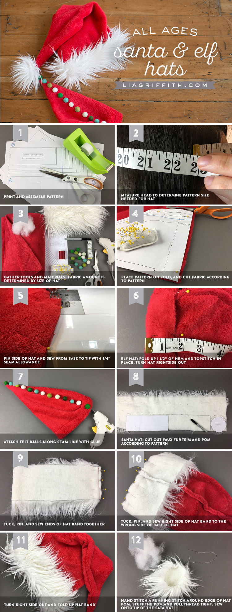 DIY Santa Hats Santa Hats. Save 81724a14f1e