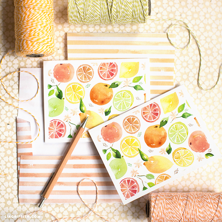 Printable Citrus Stationery