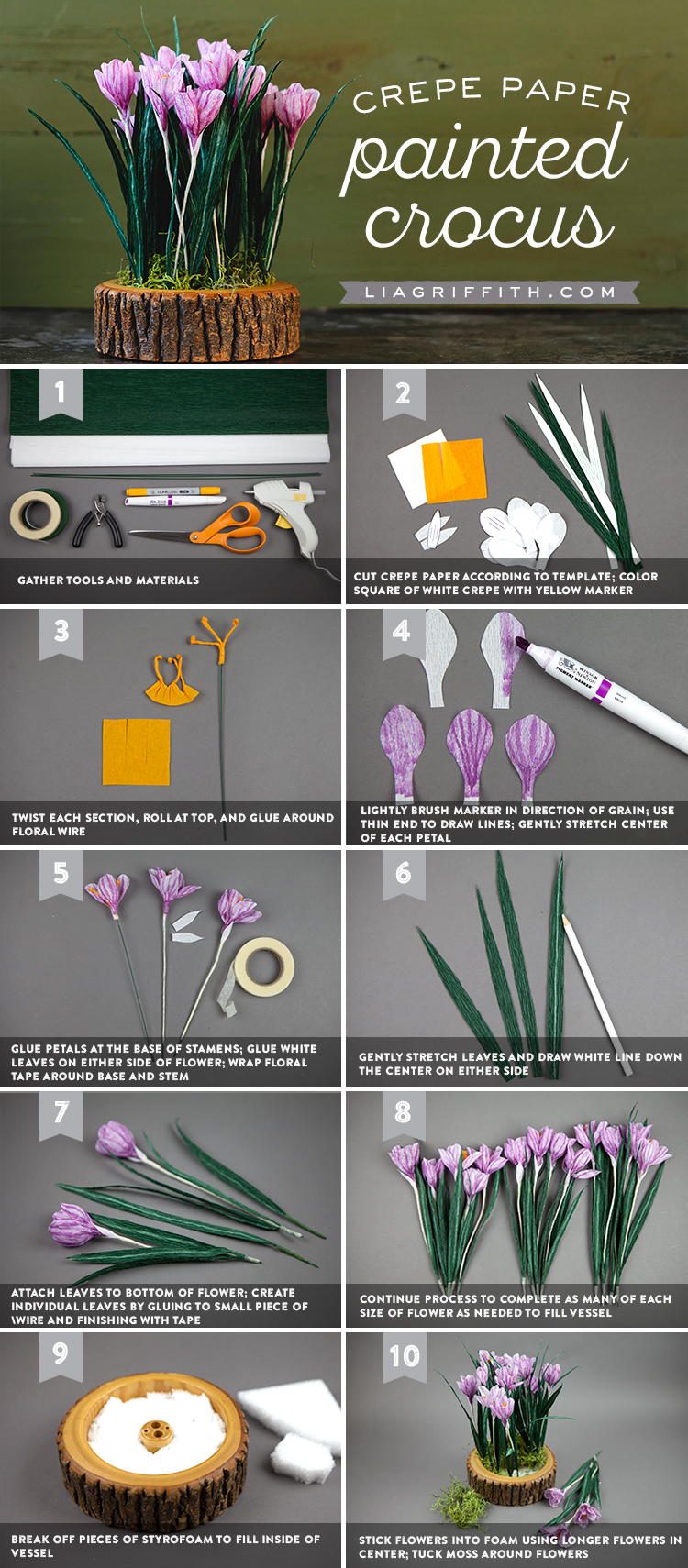 Paper Crocus Tutorial
