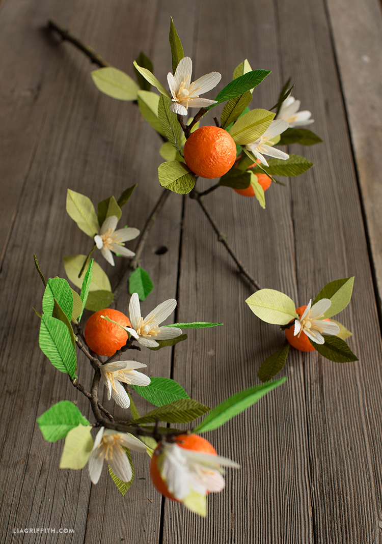 Paper Orange Blossom Branch