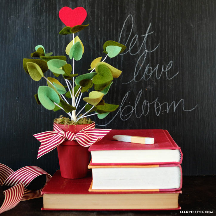 felt valentines botanical
