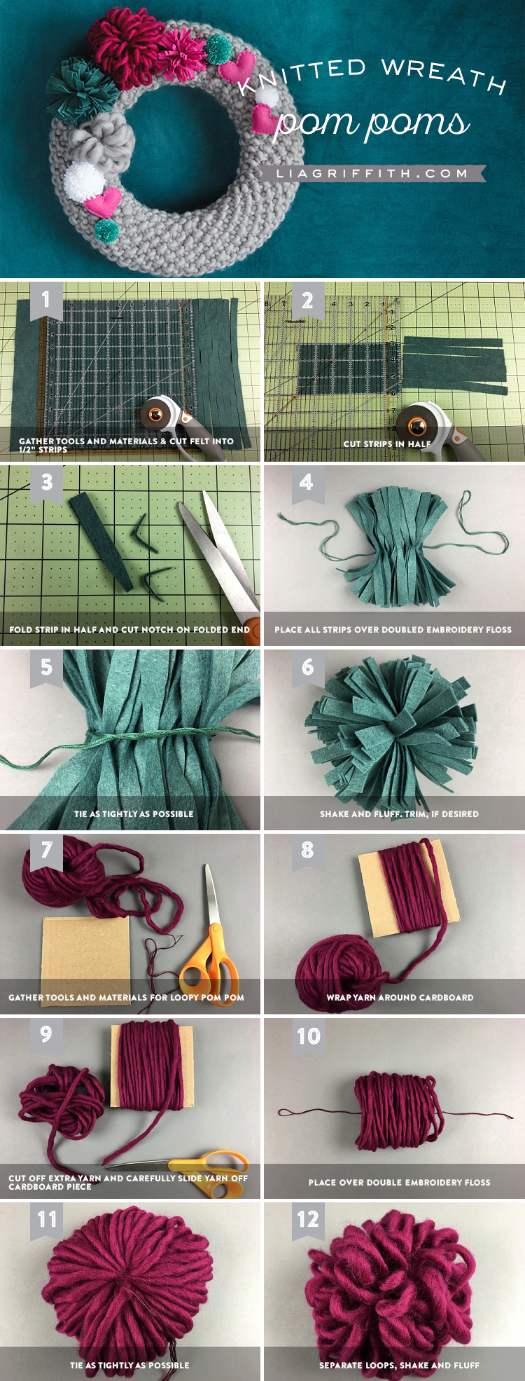 DIY Knit Wreath Tutorial with Video