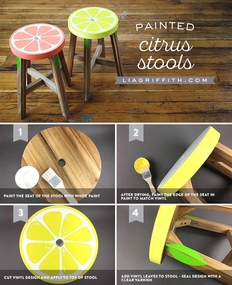 Lemon and Grapefruit Stools Tutorial