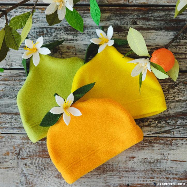 Handmade Citrus Baby Hats