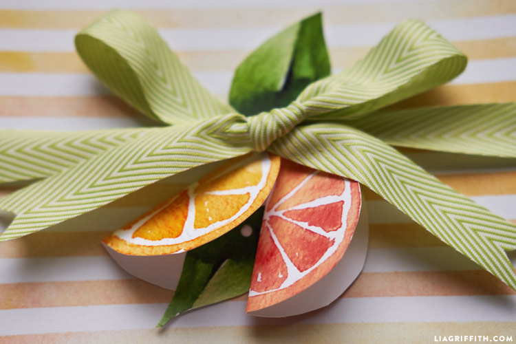 Citrus Gift Wrapping Ideas