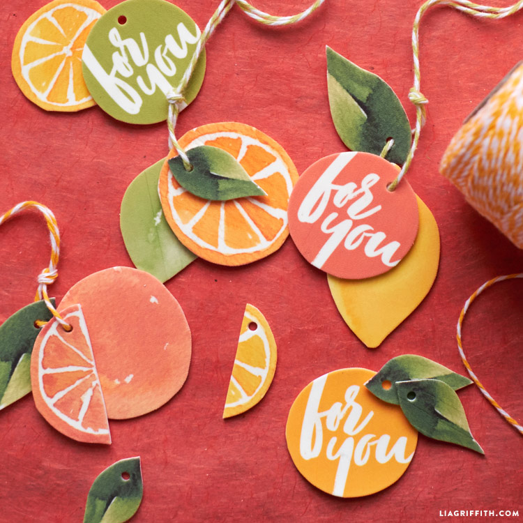 Citrus Gift Toppers
