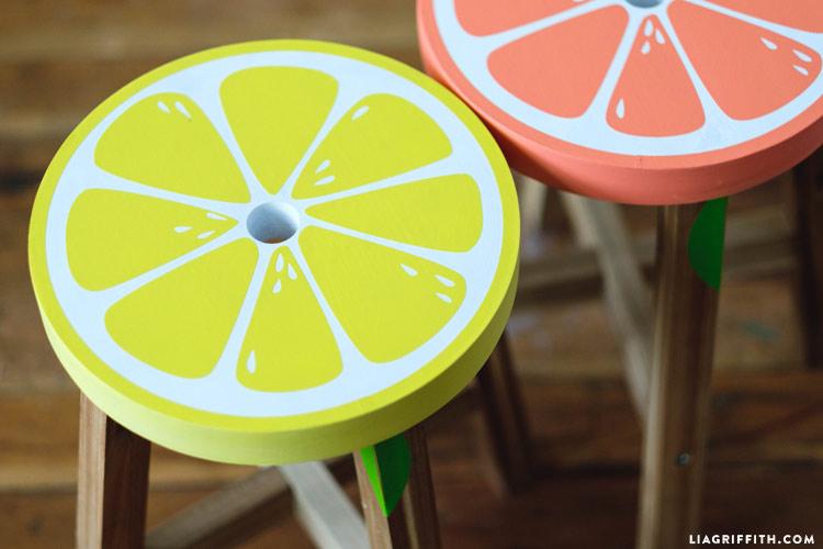 Lemon and Grapefruit Stools