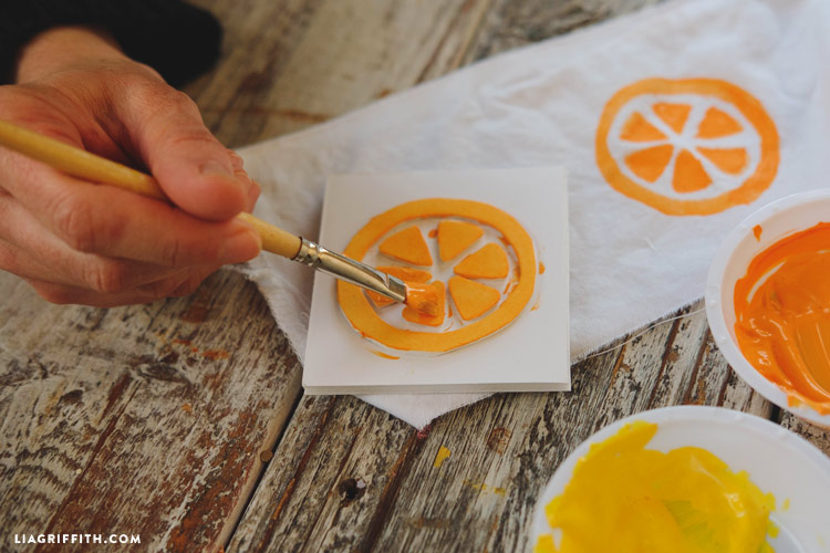 Orange Slice Stamp
