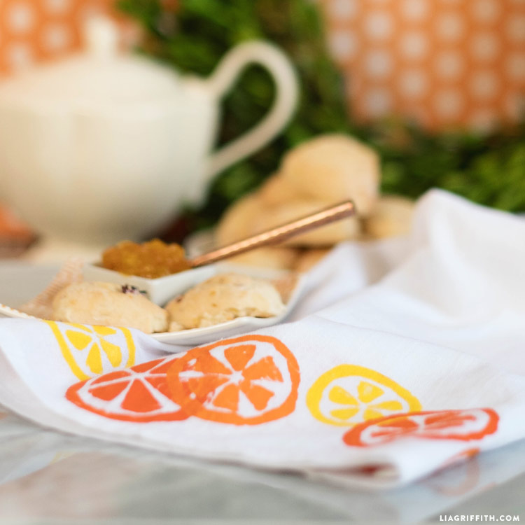 DIY Citrus Tea Towels