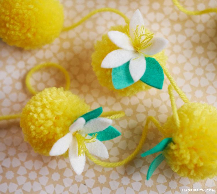 Yarn Lemon Garland