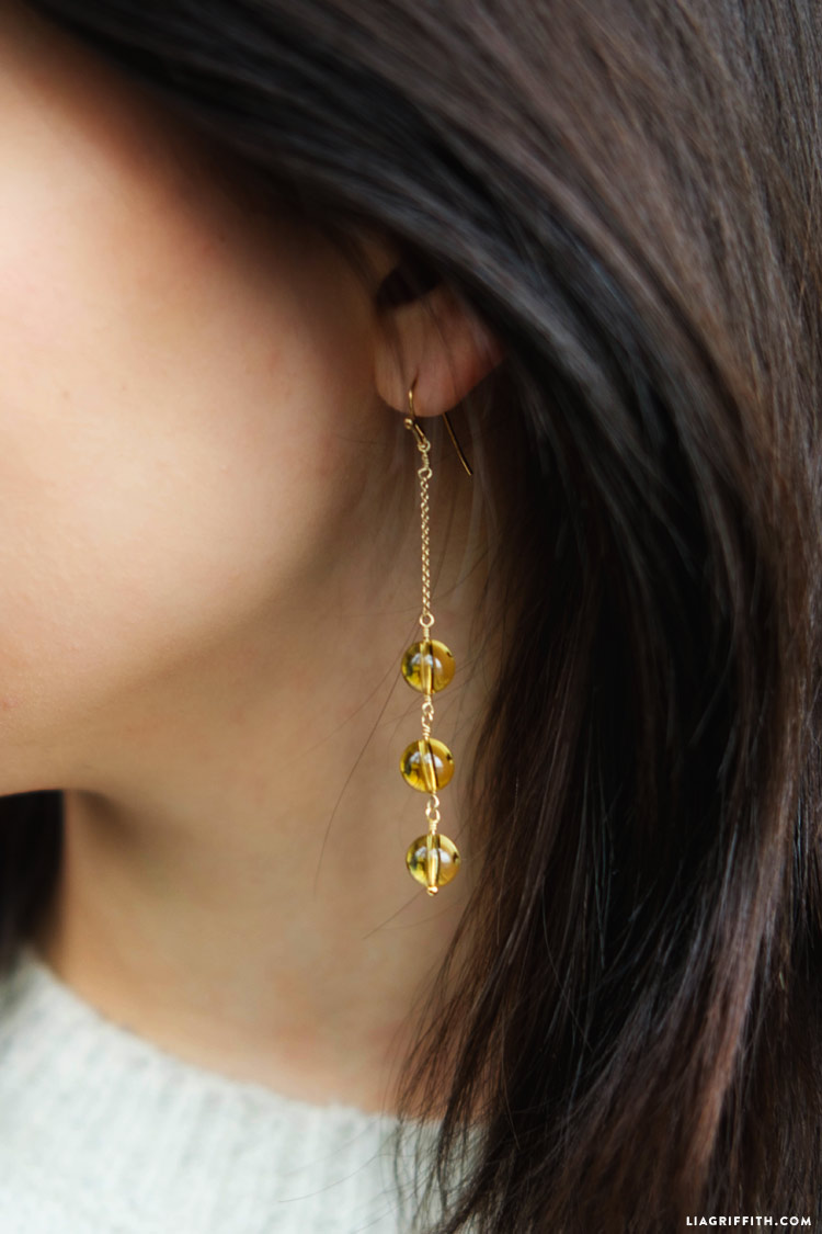 DIY Lemondrop Earrings