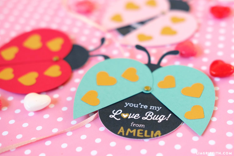 Papercut Ladybug Valentines