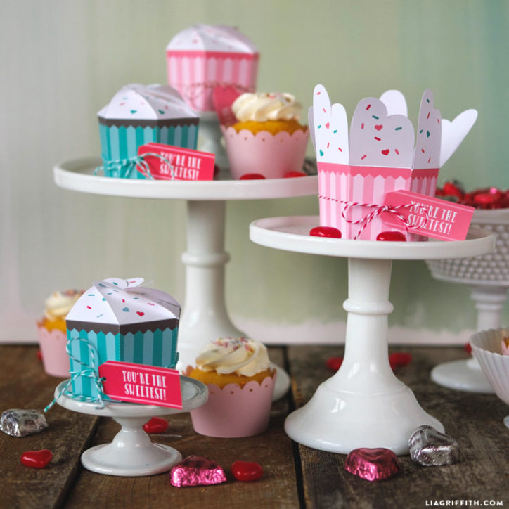 Printable cupcake treat boxes