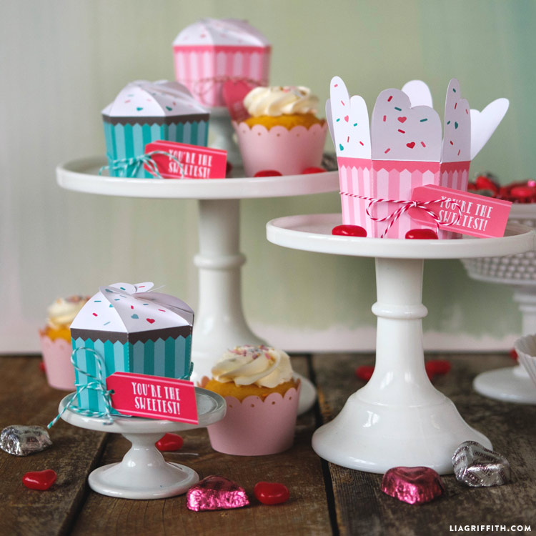 Printable Cupcake Boxes Diy Bakery Favor Boxes