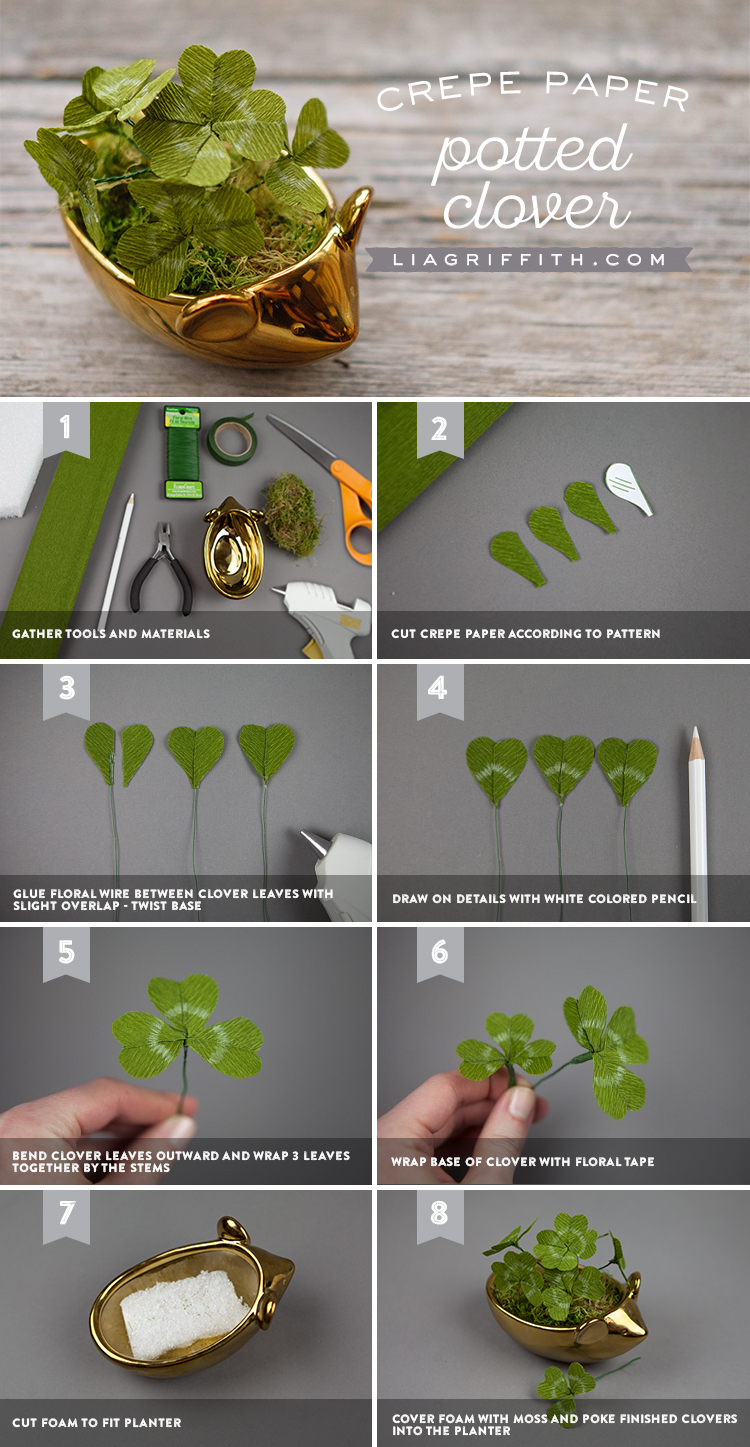 DIY Paper Clovers Tutorial