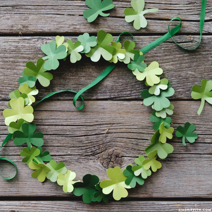 Papercut Shamrock Wreath