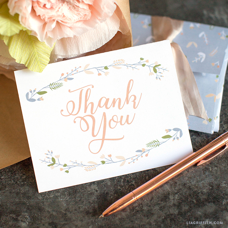 Shower Thank You Cards