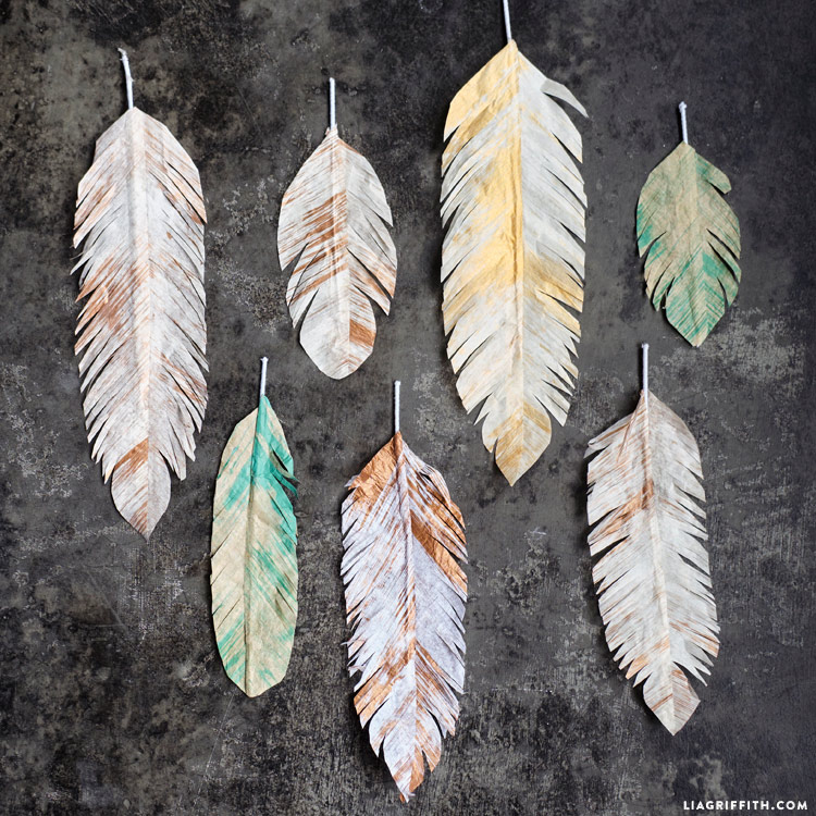 Tissue Paper Feathers