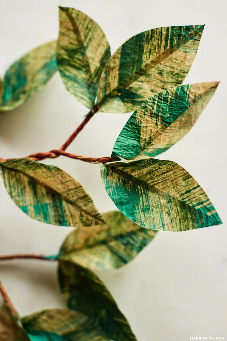 Painted Paper Leaves