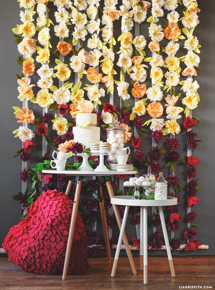 Flower Wedding Backdrop