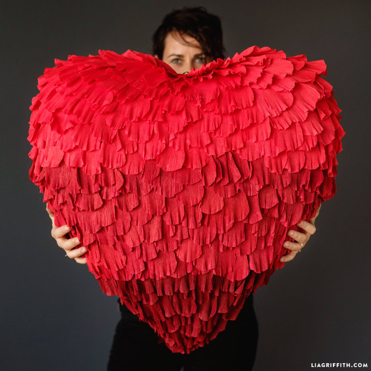 How To Make A Paper Heart Shaped Pinata