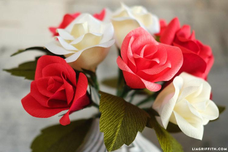 Handmade crepe paper rose buds tutorial crepe paper rose buds paper roses mightylinksfo