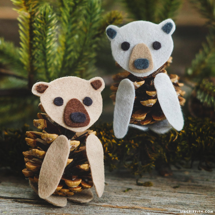 Felt Pinecone Bears