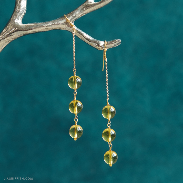 DIY Citrine Earrings