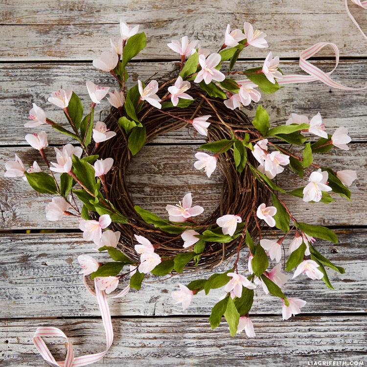 Crepe Blossom Wreath