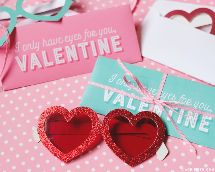 Printable Heart Glasses