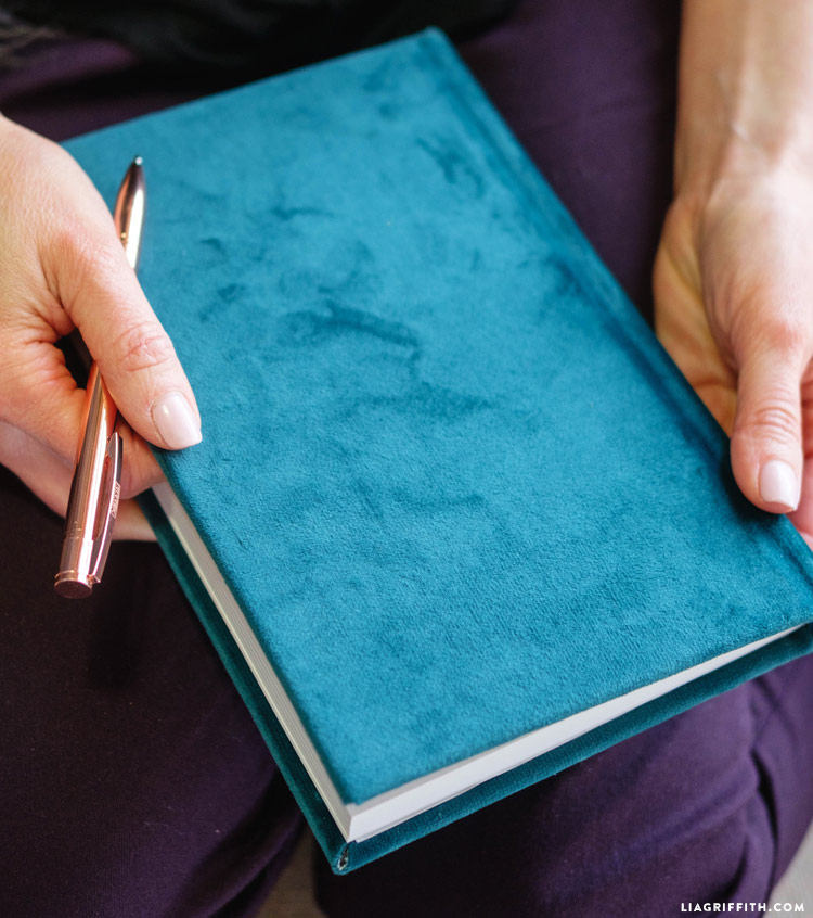 DIY Velvet Book Cover
