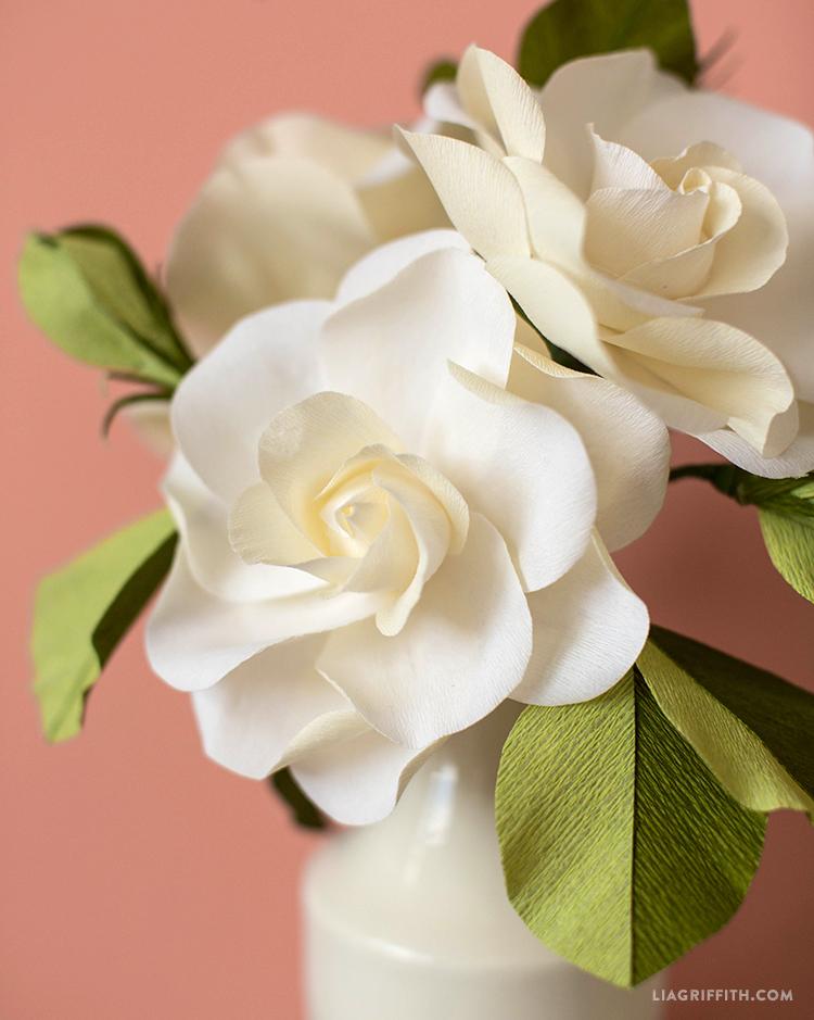 DIY Crepe Gardenias