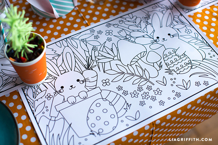 Coloring Pages For Kids Easter : Printable kid s easter coloring placemats