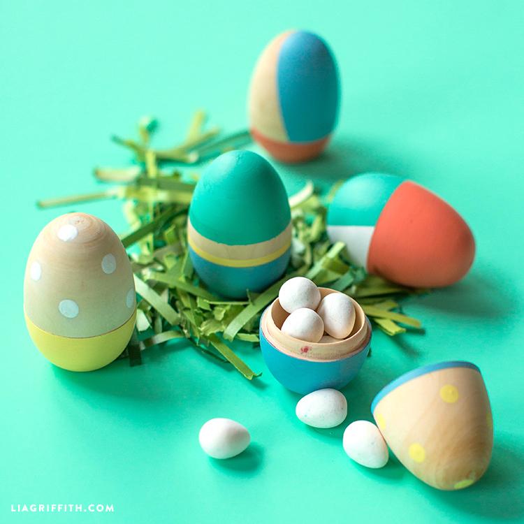 Wooden Easter Eggs