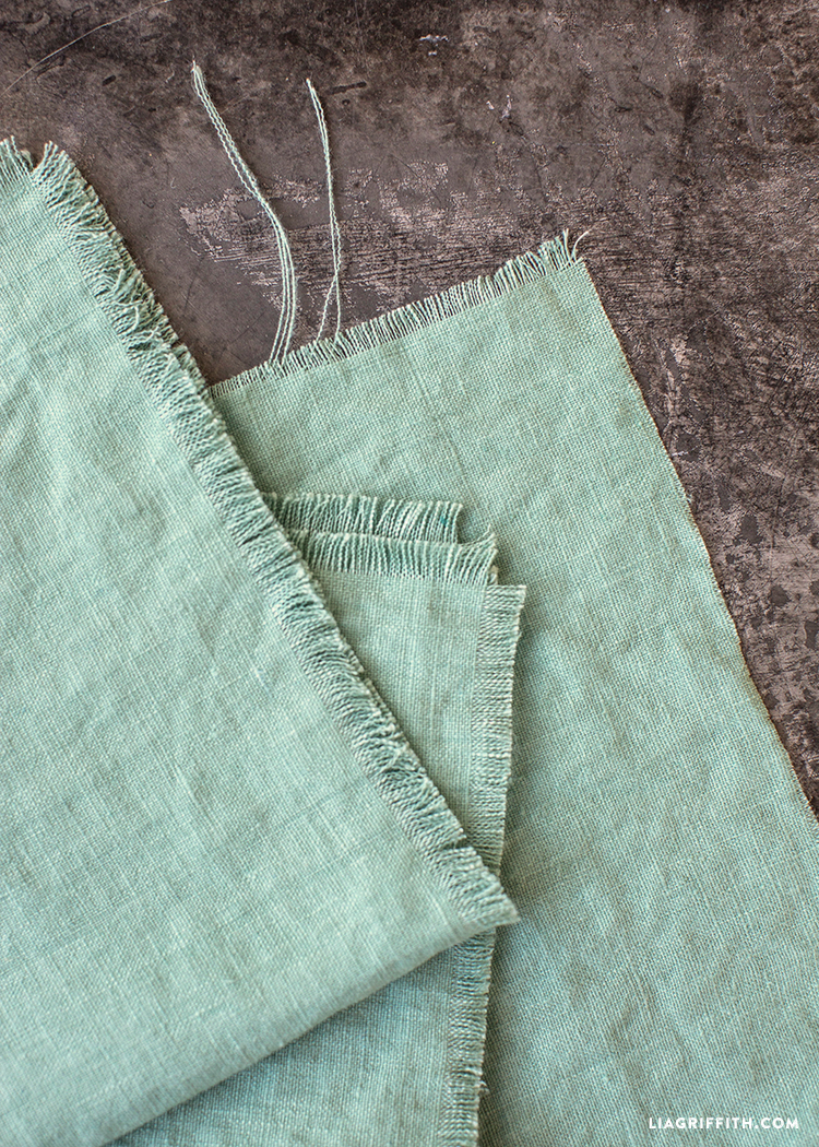 Fringed Napkin Tutorial
