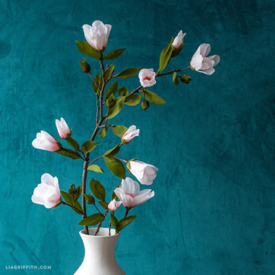 Video Tutorial: Crepe Paper Magnolia Branch