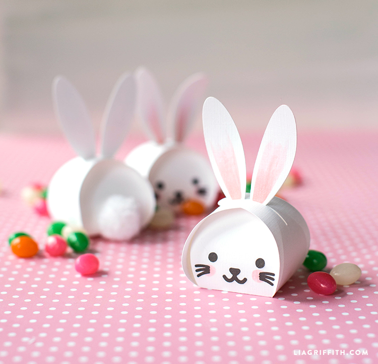 photograph about Easter Bunny Printable titled Printable Easter Bunny Handle Packing containers