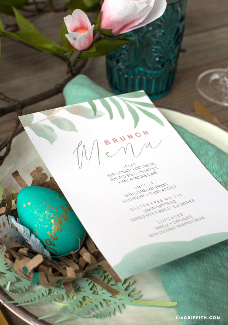 Printable Brunch Menus