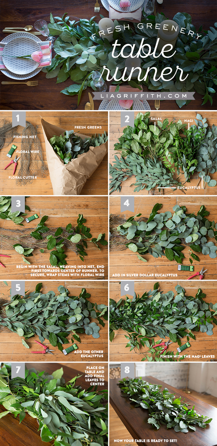 Greenery Table Runner Tutorial