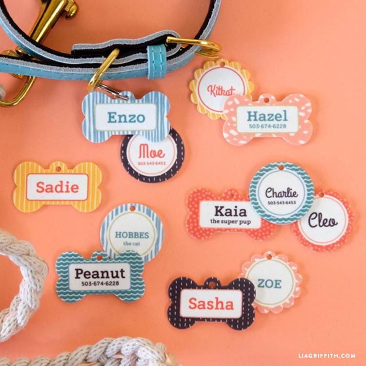 DIY pet name tags