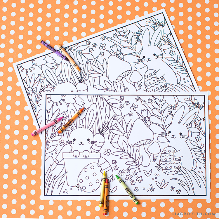 Printable Kid\'s Easter Coloring Placemats