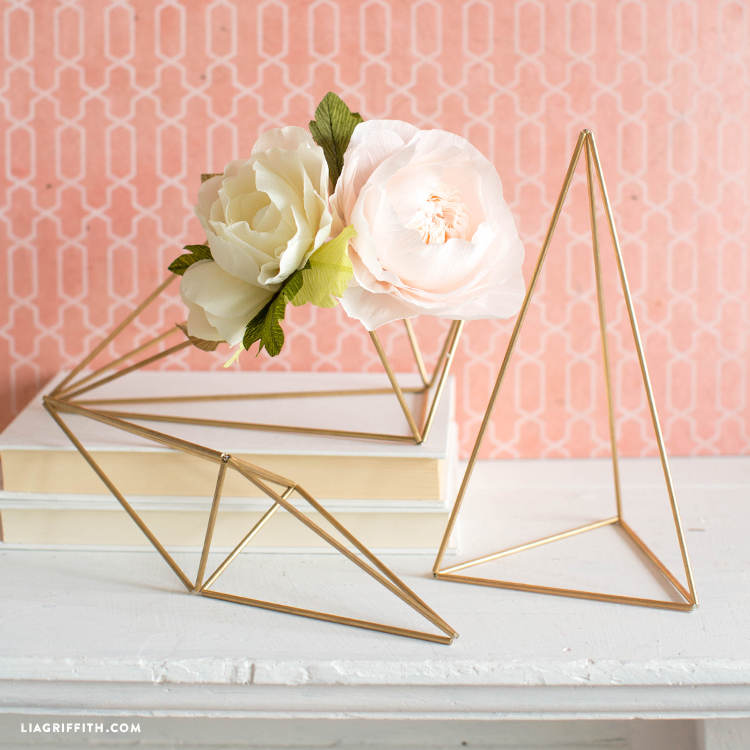 Diy Geometric Centerpieces For Wedding Decor
