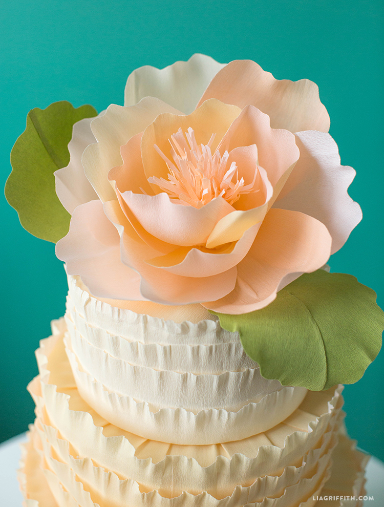 DIY Ruffle Cake