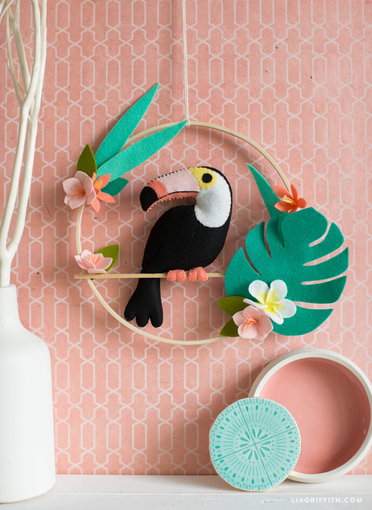 DIY Felt Toucan Wall Hanging 147a998b658