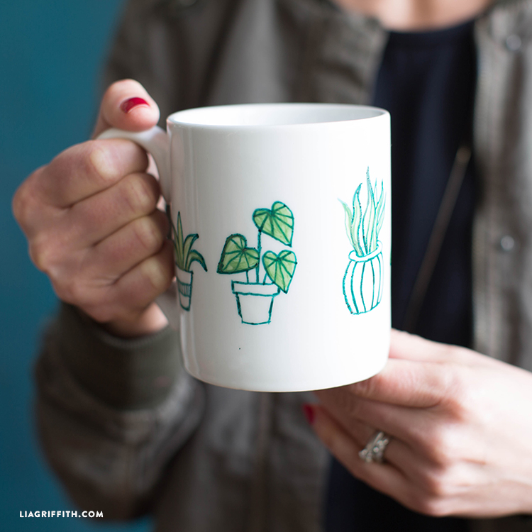 Botanical Painted Mug