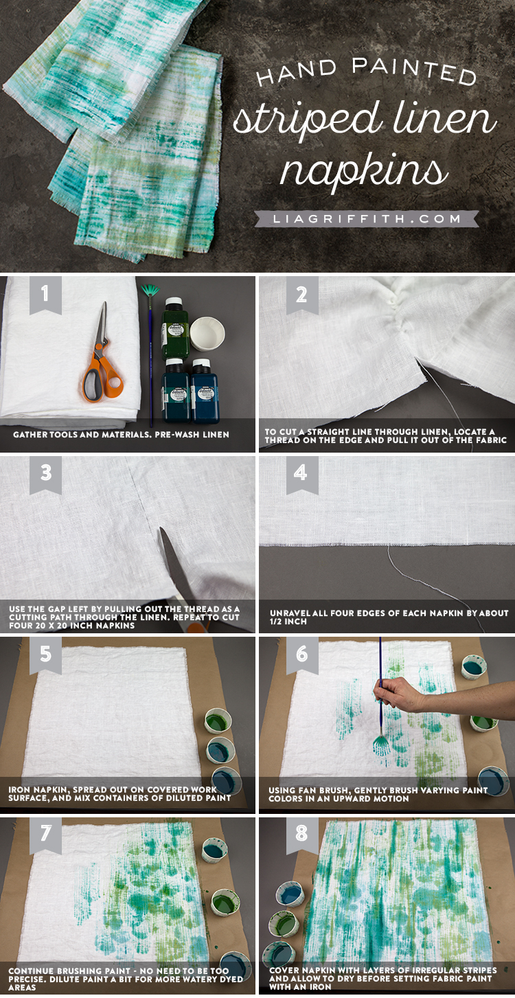 Painted Napkins Tutorial