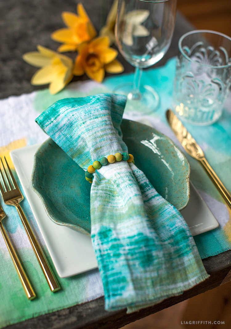 Painted Linen Napkins